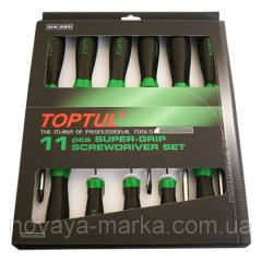 Set of screw-drivers of 11 units GAAE1101 Toptul