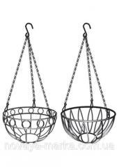Підвісне кашпо, діаметр 26 см, висота з ланцюгом та крюком 53,5см PALISAD 690158
