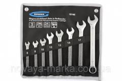 Набір ключів комбінованих 8-17 мм, 6 шт., CrV, холодний штамп // GROSS 15147