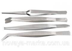 Набір пінцетів з нержавіючої сталі, 4 шт. Sparta 914845