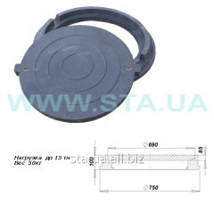 Manholes from composite material with the lock to