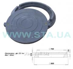 Manholes with the lock polimerpeschany black heavy