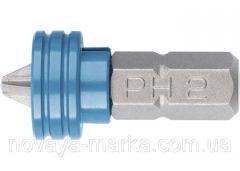 Біта РН 2x25 мм з обмежувачем і магнітом, для ГКЛ, S2//Gross 11455