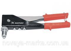 Заклепник, 250 мм, переставний 0-90 градусів, заклепки 2,4-3,2-4,0-4,8 мм MTX 405279