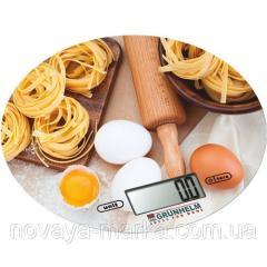 Весы (для кухни) - KES-1RD (с рисунком, круглые, макс-5кг) (GRUNHELM) 59731