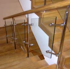 Ограждение лестниц, облицовка лестниц