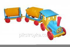 El juguete el tren-constructor 2 remolques azul Doloni DT 1/1