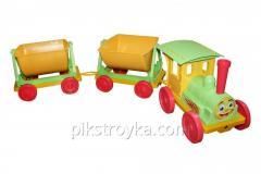 El juguete el tren-constructor 2 remolques salatovyy Doloni DT 1/1