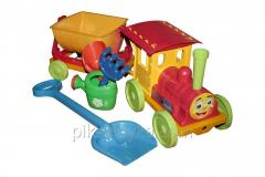 Toy the train designer with sand set No. 1 red Doloni of DT 1/1