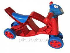 Toy a minibike for driving with a sound red-blue Doloni of DT 1/3