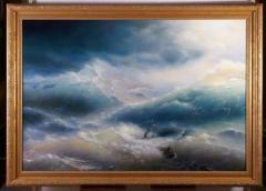 "Copy Ayvazovsky's ""Wave"" razkhmer of the"