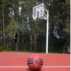 Стойка баскетбольная на одной опоре