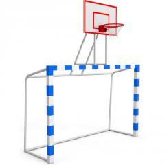 Баскетбольная стойка с воротами щит фанера...