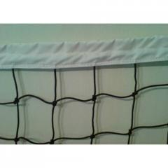 Professional volleyball net with the sheathed top.