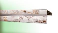 La cornisa de aluminio la película 3,0м el mármol claro Cardinal 1/5