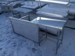 Table 2kh section. sink, compartment doors 1950х600х850 bowl 450х450х300