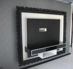 Designer furniture, flat TV (large)