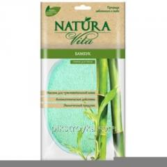 Bast bathing Natura Vita Bamboo of 1 piece 26*13sm sponzh 1/50