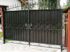 Ворота секционные откатные гаражные распашные