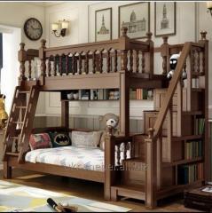 Двухъярусная кровать Ренат люкс из натурально
