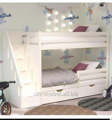 Кровать двухъярусная  жасмин 80