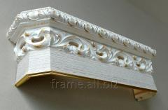 Cornice for curtains Italian, P 12 biancatto +
