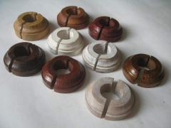 Decorative overlays for pipes (parquet)