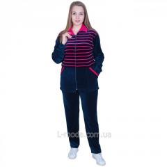 Спортивный костюм женский велюровый с удлиненной курткой 48, арт. 5383