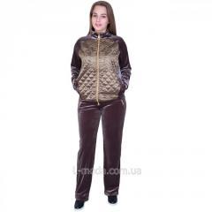 Велюровый спортивный костюм женский 52