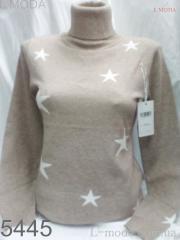 Свитер с звёздами 46, Малиновый