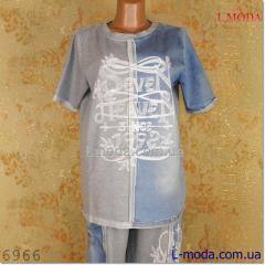 Спортивный костюм женский джинсовый 50