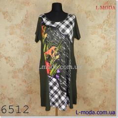 Платье в клетку с цветами 54, арт. 45621