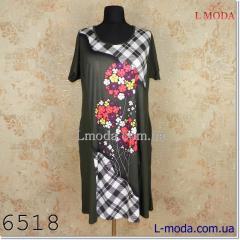 Платье в клетку с цветами 54, арт. 026-4566