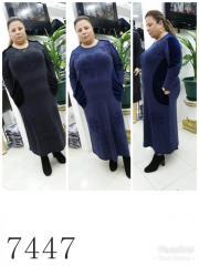 Платье с карманами 52, Синий