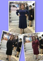 Платье трикотаж-ангора 52, Бордовый