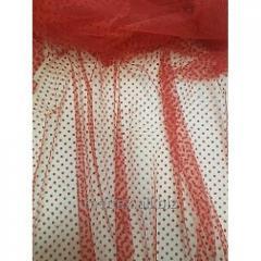 Еврофатин (Флок) горошки  цвет - красный № 406