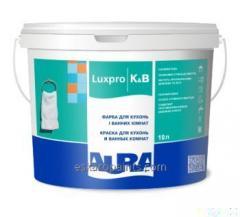 Интерьерная полуматовая акрилатная краска для кухонь и ванных комнат Aura Luxpro K&B. Ведро 10л.