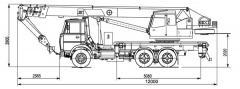 Автокран КТА-18 на шасі МАЗ-5340-С2