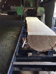 Selling freshly sawn oak board 0-1 grade