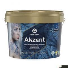 Особо прочная aнтибактериальная влагостойкая полуглянцевая краска для внутренних работ. Eskaro Akzent. 2.7л