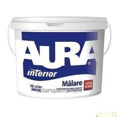 Ультрабелая глубоко-матовая краска для потолков и стен Aura Målare 10л
