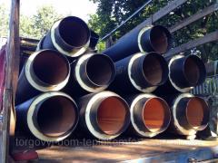 Теплоизолированные стальные трубы 76/140 в оболочке (ПЕ; СПИРО)