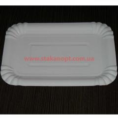 Тарелки бумажные 14х20см 100шт ламин.