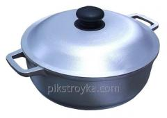 Pan aluminum 3,0l with a cover / a reinforced bottom Prolis 1/5