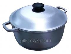 Pan aluminum 4,0l with a cover / a reinforced bottom Prolis 1/5