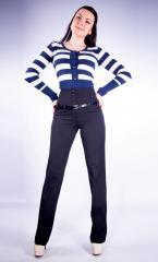 Женские брюки молодежные (179 модель) Черная