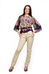 Женские брюки молодежные (81 модель, костюмка)