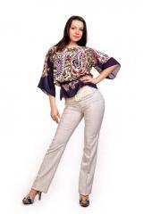 Женские брюки молодежные (модель 95 Лён)