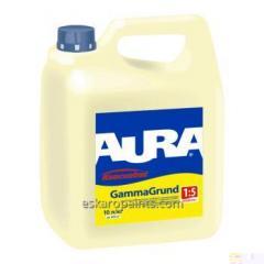 Укрепляющая  грунт-концентрат 1:5 глубокого проникновения для внутренних и наружных работ Aura GammaGrund 10л