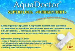 Коагулянт флокулянт SF SuperFlock AquaDOCTOR в картушах (8шт - 1кг)